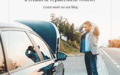 Si su automóvil resulta ser un limón, podría ser elegible para un reembolso o un vehículo de reemplazo.