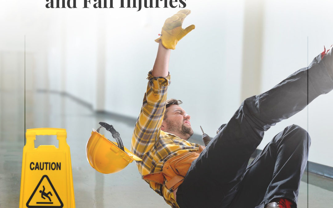 Las lesiones más comunes por resbalones y caídas