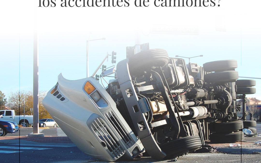 ¿Qué causa la mayoría de los accidentes de camiones?